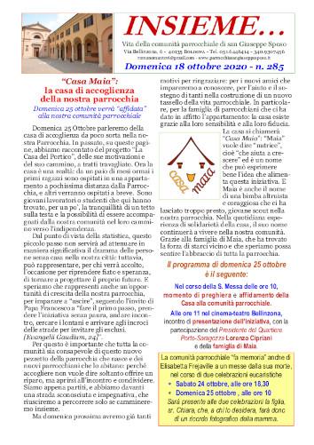 Insieme n° 285 - 2020